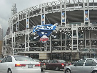 Baseball park - Progressive Field was the first retro park with a modern exterior