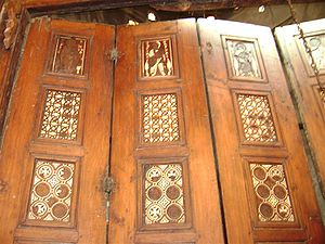 Door of Prophecies - The first row represent the first epoch of Christianity.