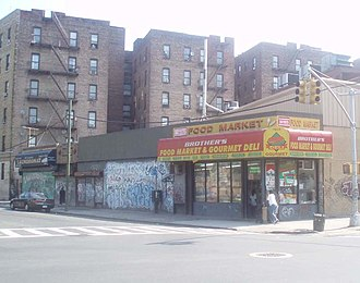 East Tremont, Bronx - Looking east across E182nd Street and Prospect Avenue