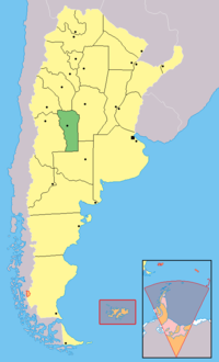 Département De Junín San Luis Wikipédia - Junin argentina map
