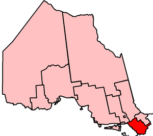 Parry Sound—Muskoka (provincial electoral district) - Parry Sound—Muskoka in relation to other Northern Ontario ridings