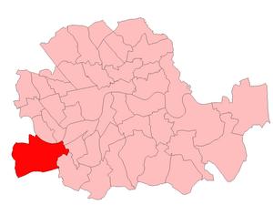 Putney (UK Parliament constituency) - Putney in London 1950–74