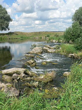 Perevozsky District - The rapids of the Pyana River in Perevoz