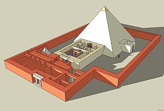 Pyramid of Khentkaus II - Reconstruction of the Pyramid