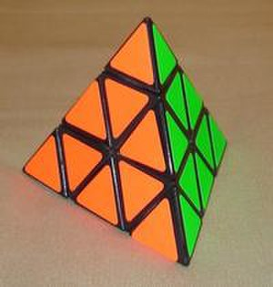 Pyraminx - Pyraminx in its solved state
