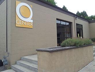Q Center - The center's exterior in 2014