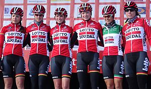 Lotto–Soudal Ladies - The team at the 2015 Le Samyn des Dames