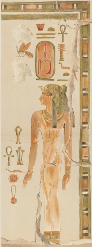 Senseneb - Painted relief of Senseneb from Deir el-Bahri