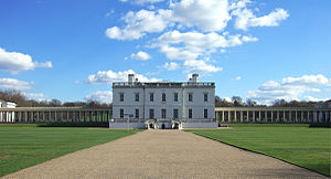 Matthew Aylmer, 1st Baron Aylmer - The Queen's House at Greenwich, where Aylmer died, viewed from the main gate