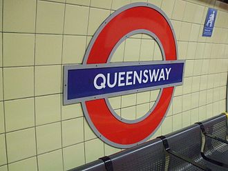 Queensway tube station - Image: Queensway station roundel