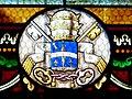 Quinsac (Dordogne) église vitrail armoiries (5).JPG