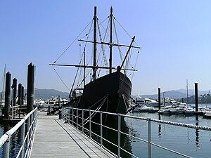 Pinta (ship) - La Pinta museum at Baiona, Pontevedra, Galicia, Spain