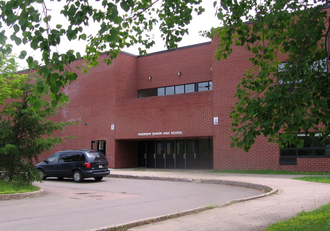 Riverview High School (New Brunswick) - Image: RHS Entrance Crop