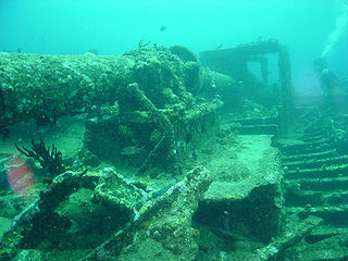 RMS <i>Rhone</i> Royal Mail Ship wrecked off Salt Island in the British Virgin Islands in a hurricane