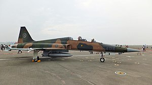 ROCAF F-5F Right View in Gangshan Air Force Base 20111015.jpg