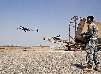 AAI RQ-7 Shadow - The RQ-7B leaves its launcher.