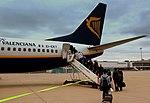 RYANAIR BOEING 737-800 EI-EKT BOARDING AT FRANKFURT HAHN AIRPORT HUNSRUCK GERMANY BOUND FOR IBN BATTOUTTA AIRPORT TANGER MOROCCO APRIL 2013 (8704461800).jpg