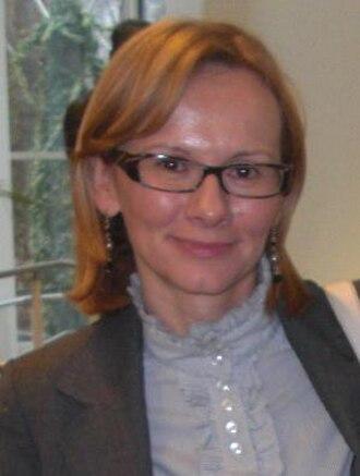 Macedonian parliamentary election, 2008 - Image: Radmila Sekerinska conference