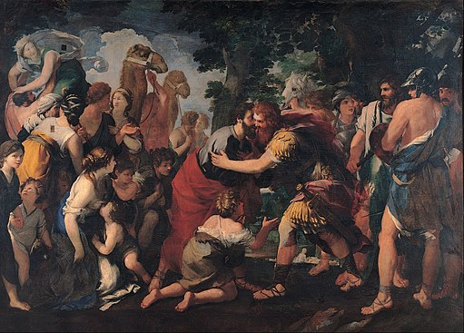 Raffaellino Bottalla - Meeting between Esau and Jacob - Google Art Project