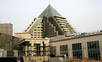 Wafi City - Raffles Dubai under construction in July 2007