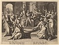 Raphael Sadeler I after Joos van Winghe, Solomon Led to Idolatry by His Wives, 1589, NGA 66778.jpg