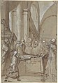 Raymond Diocrès Speaking During His Funeral (from the Life of Saint Bruno of Cologne) MET DP809285.jpg