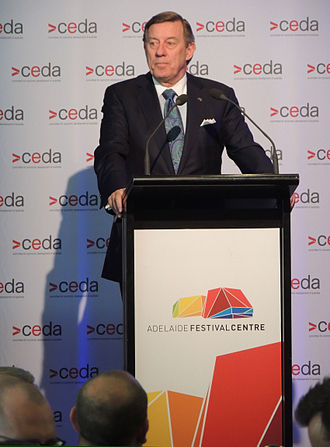 Economic Development Board (South Australia) - Raymond Spencer, chair of the EDB speaks at a CEDA event in Adelaide (2015)