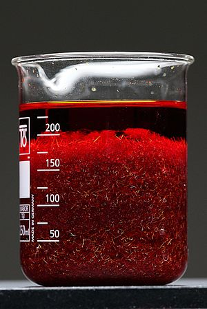 Chromium trioxide - Image: Reaction between potassium dichromate and sulfuric acid (3)