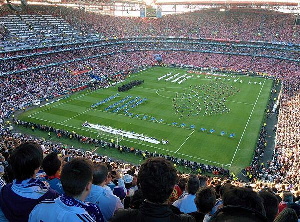 Opening ceremony of 2014 UEFA Champions League final at the Estádio da Luz - Real Madrid C.F.