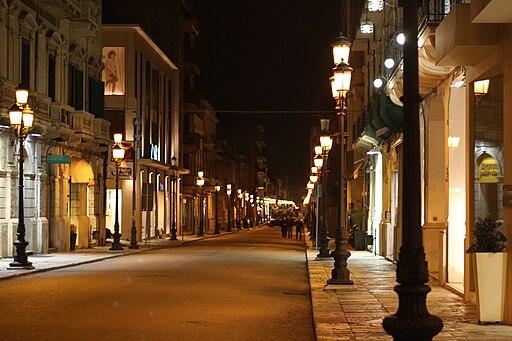 Reggio Calabria-corso Garibaldi di notte