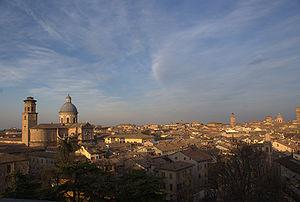Reggio Emilia - Panorama with basilica della Ghiara.
