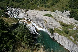 Rein da Medel river in Switzerland