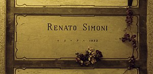 Renato Simoni - Simoni's grave at the Monumental Cemetery of Milan, Italy