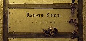 Renato Simoni - Simoni's grave at the Monumental Cemetery of Milan, Italy