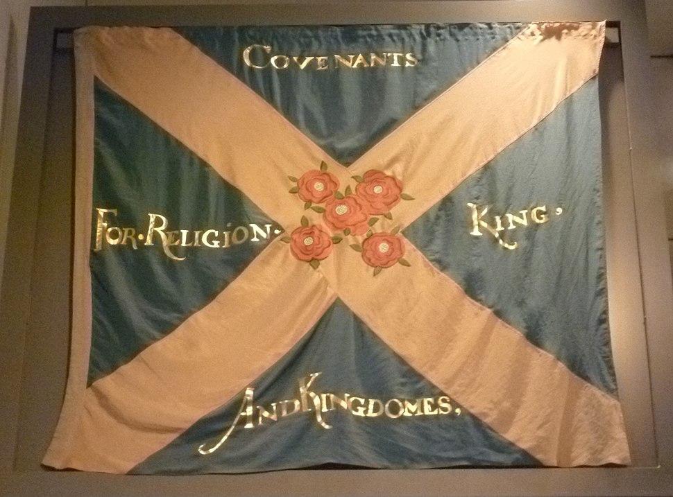 Replica Covenanter flag, National Museum of Scotland