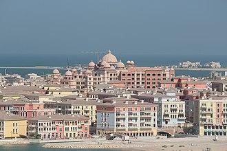 The Pearl-Qatar - Far view of Qanat Quartier