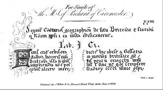 Attacotti - A part of the spurious De Situ Britanniae.