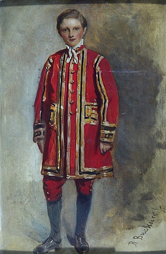 Chapel Royal - Portrait of a Boy Chorister of the Chapel Royal, c. 1873 by Richard Buckner. Victoria and Albert Museum, London.