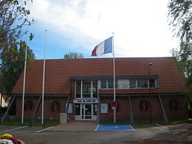 The town hall of Richebourg