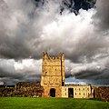 Richmond Castle Bailey, facing the Great Keep.jpg