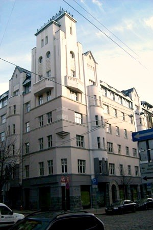 Eižens Laube - Image: Riga, Laube Gertrudes 23, Akas 1