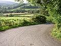 Road leading downhill, by Rhiwrhwch Isaf - geograph.org.uk - 946031.jpg