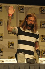 Rob Zombie attending the 2007 Comic Con to promote Halloween.