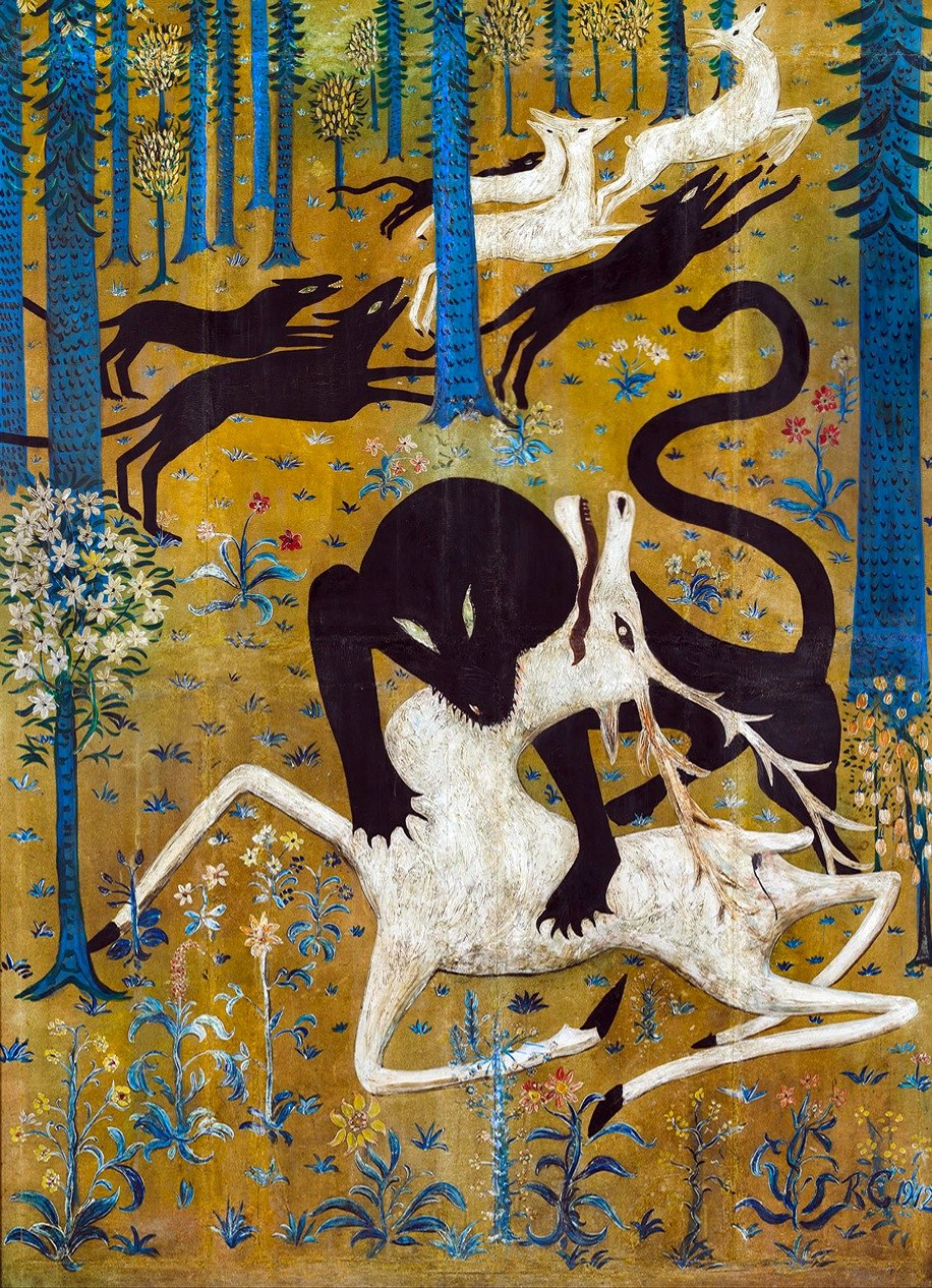 Robert W. Chanler, Leopard and Deer