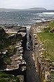 Rock cleft near Mid Howe broch - geograph.org.uk - 1302040.jpg