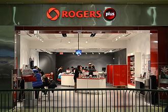 Rogers Communications - A Rogers Plus store in Markville Mall in Markham, Ontario.