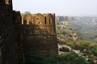 Rohtas Fort - Rohtas Fort is protected by thick defensive walls.