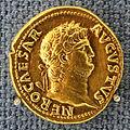 Roma, nerone, aureo, 64-65 dc.JPG
