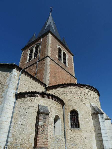 The bell tower of the Church in Romans (Ain)