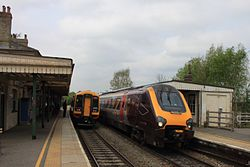 Romsey - SWT 158890 and CrossCountry 220030.JPG